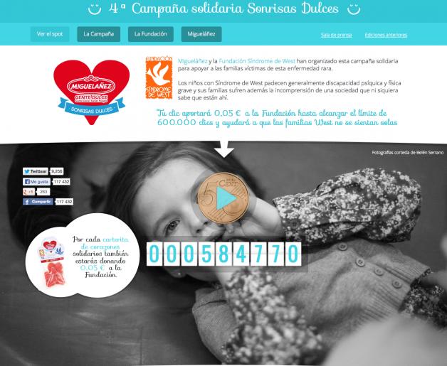 Campaña Síndrome West Miguelañez - Psicopeque